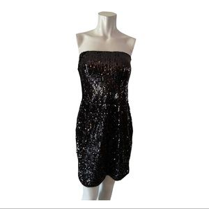 Colloseum Collection Black Sequined Dress Large